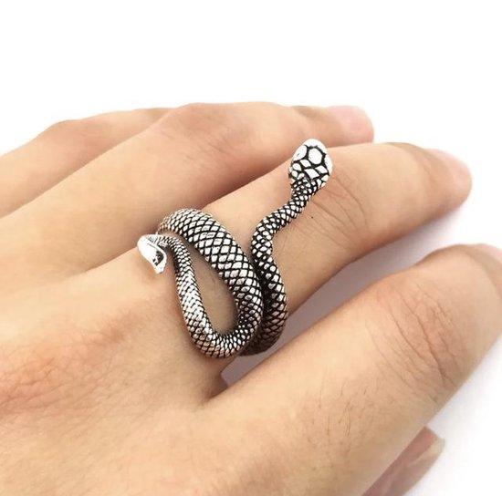 Ring Slang Zilver - Verstelbaar
