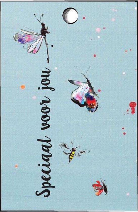 cadeaulabel bedankt - bedanktkaartjes - bedankt - vlinders - 20 st