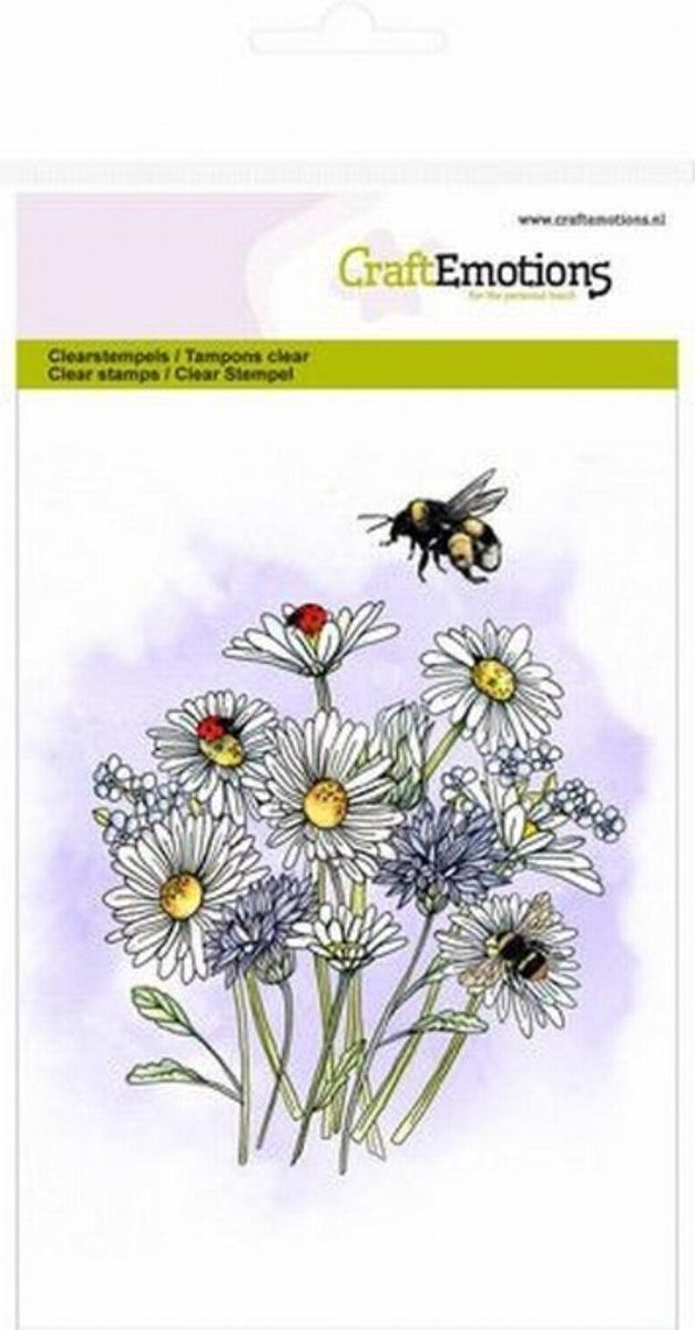 CraftEmotions clearstamps A6 - veldbloemen 1 GB