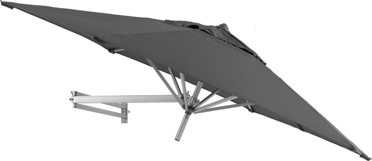 Easysol Muurparasol -   250 cm - Grijs