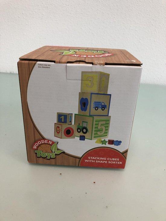 Afbeelding van het spel Houten blokken om te stapelen voor kinderen