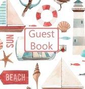 Guest Book, Visitors Book, Guests Comments, Vacation Home Guest Book, Beach House Guest Book, Comments Book, Visitor Book, Nautical Guest Book, Holiday Guest Book (Hardback)
