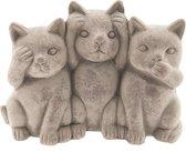 Clayre & Eef | Decoratie katten 22*10*16 cm | Grijs | Terracotta | Katten | 6TE0193