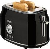 Bourgini Retro Toaster - Broodrooster - Zwart