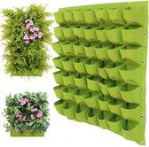 Verticale tuin / plantenzakken voor 72 planten – hangende plantenbak 100 cm x 100 cm
