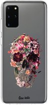 Samsung Galaxy S20 Plus hoesje Transparent Skull Casetastic Smartphone Hoesje softcover case