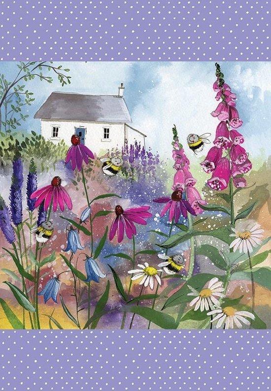 Alex Clark Theedoek Bijen ~ Bee Garden