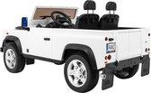 Elektrische kinderauto Land Rover DEFENDER WIT 4x4 met afstandsbediening