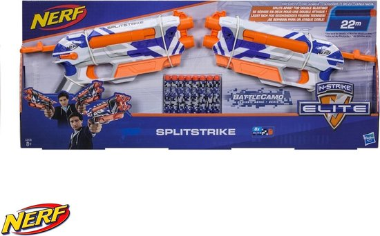 Nerf - Nerf N-Strike - Splitstrike Battle Camo - Pistool - Blaster - Met Darts - Van Hasbro