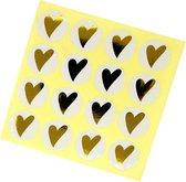 stickers Hartje cadeaustickers sluitzegels 16 stuks