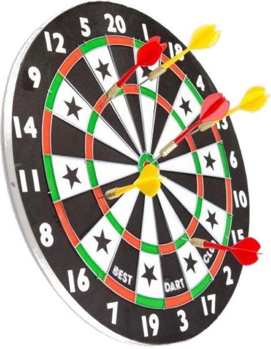 Afbeelding van het spel Dartbord met pijlen - Dubbelzijdig - 38 cm