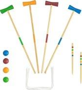 Buitenspel voor Kinderen Croquetspel hout - croquet set - 20 delig spel