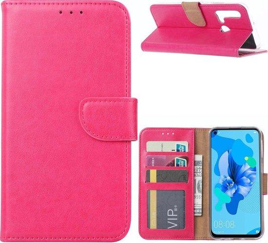 Huawei P20 Lite 2019 - Bookcase Roze - portemonee hoesje