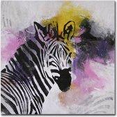 Schilderij - Zebra