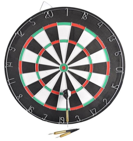 Thumbnail van een extra afbeelding van het spel Dubbelzijdig XQ-max dartbord incl 6 dartpijlen