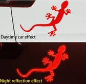 Auto Reflecterende Sticker , Waarschuwing Tape, Reflecterende Strips, Veiligheid Mark, hagedis - rood