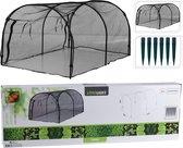 Pro Garden Moestuin Beschermnet Zwart 15-delig 120x80x60 Cm