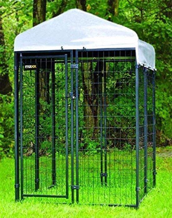 MaxxPet Hondenkennel - Dierenverblijf - afneembaar dak - 1,2 x 1,2 x 1,8m - hondenkooi