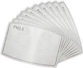 Vervangbare mondkapje filters – 100 stuks wegwerp (50 - 60uur gebruik)   PM 2.5 filters
