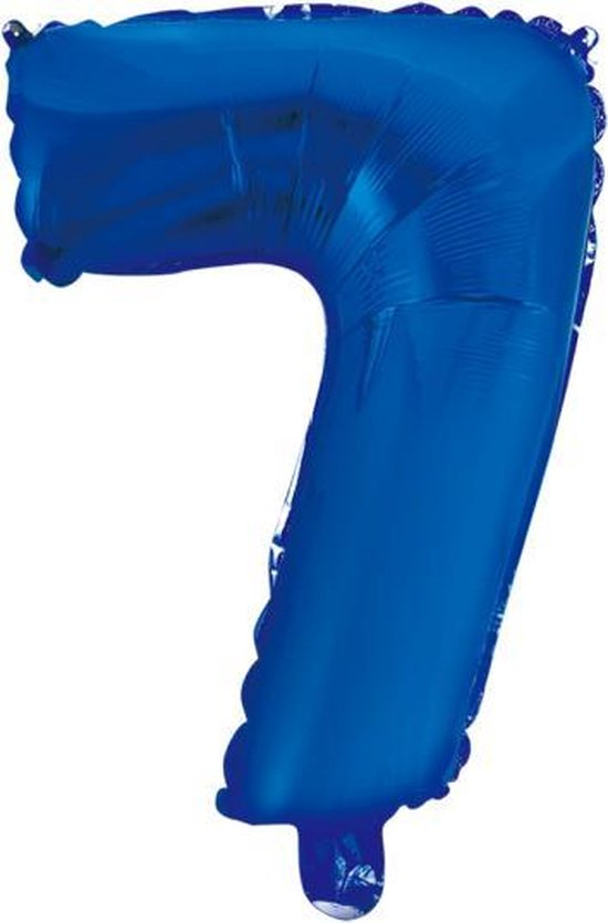 Folieballon 7 jaar blauw 41cm