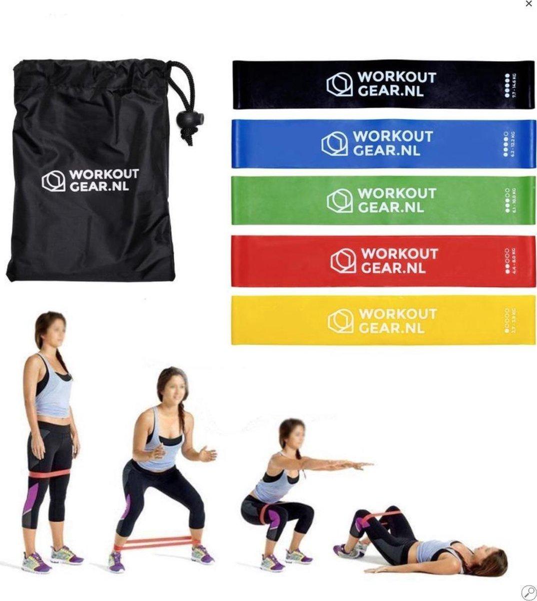 Workout Gear - 5 Weerstandsbanden Set - Inclusief handleiding