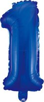Folieballon 1 jaar blauw 86cm