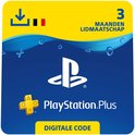 PlayStation Plus 3 maanden - PSN PlayStation Network Kaart - BE