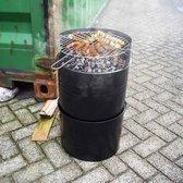 BBQ Houtskool Olievatvormige barbecue