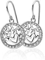Zinzi zio636z - zilveren oorsieraden hart