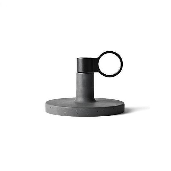 Menu Weight Here - KiBiSi Candleholder - Donkergrijs Beton