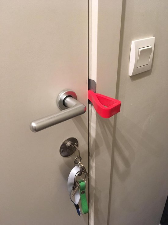 EDGY - deur- en vensterstopper - ROOD - duopack