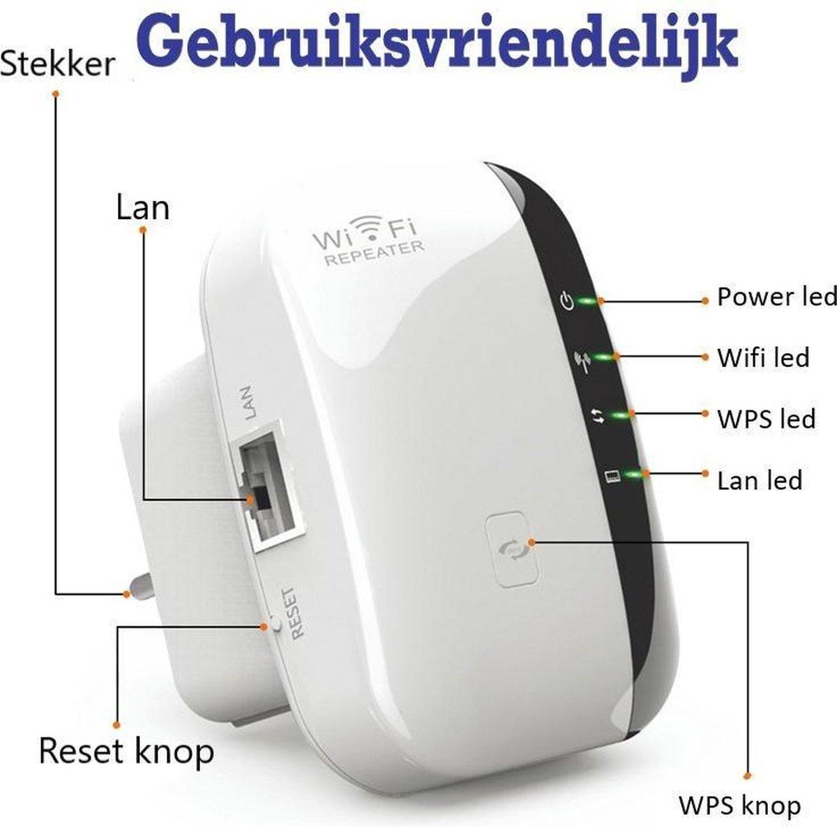 Wifi Versterker - Wifi Repeater - Wifi Versterker stopcontact.