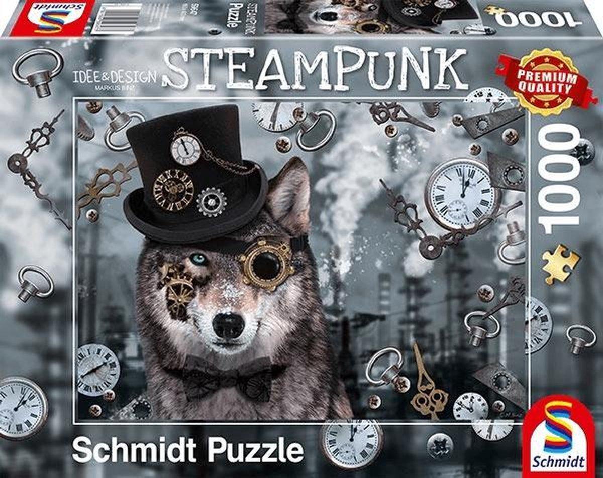 Steampunk Wolf, 1000 stukjes Puzzel