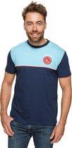 Ajax Casual T-shirt Uit 2020-2021 Mannen - IJsblauw - Maat XL