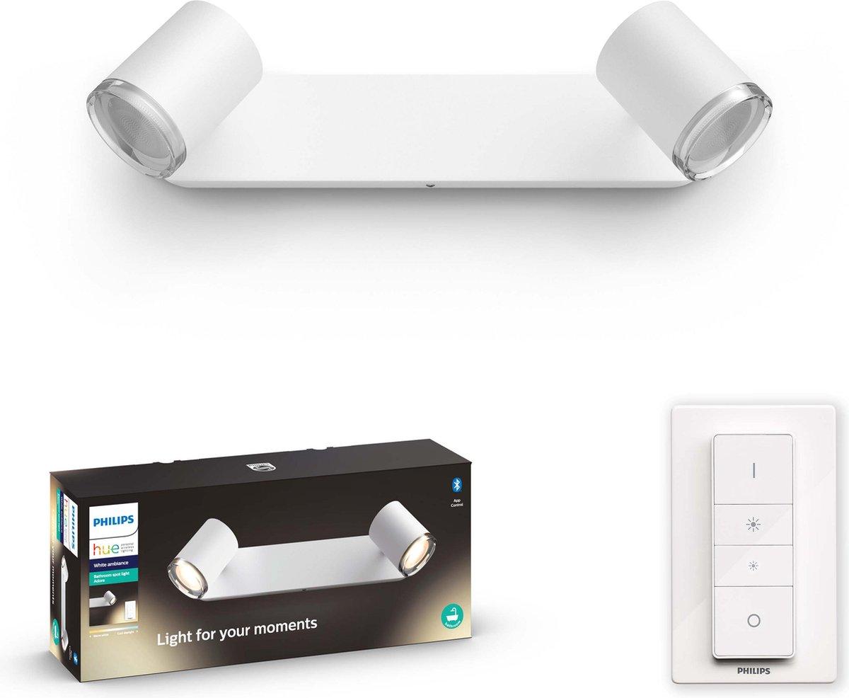 Philips Hue - Adore Hue bar/tube white 2x5.5W 230V - White Ambiance - Bluetooth