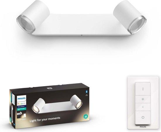 Philips Hue Adore badkameropbouwspot - warm tot koelwit licht - 2-lichts - wit
