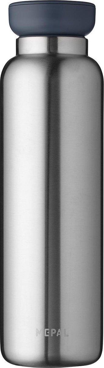 Mepal   Isoleerfles Ellipse 900 ml   houdt je drankje 12 uur warm en 24 uur koud   Natural brushed