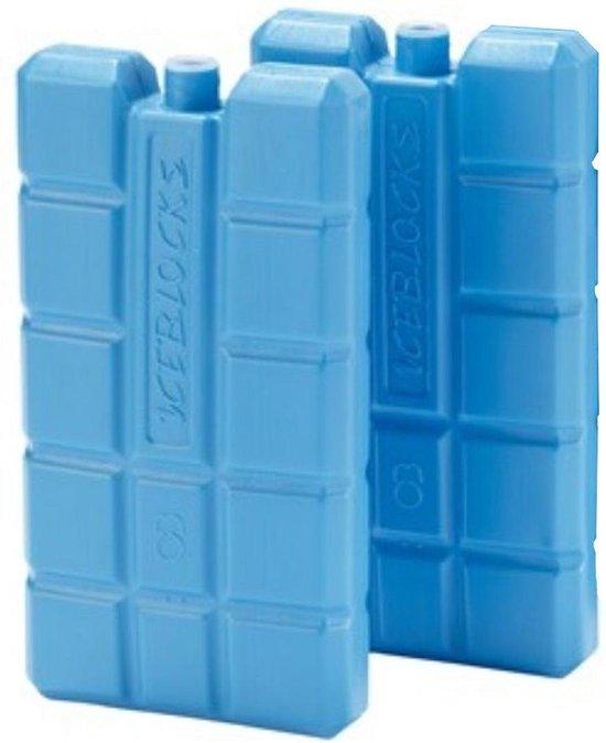 Fresh en Cold Koelelement - klein - 4-pack - blauw - voor koelbox - vriezer