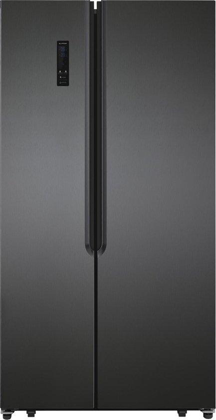 Koelkast: Exquisit SBS 135-4 - Amerikaanse koelkast - Donker INOX, van het merk Exquisit
