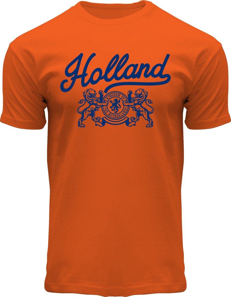 Fox Originals Holland Weapon T-shirt Heren & Dames Katoen Oranje Maat M