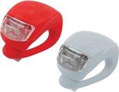 Fietslampjes Set - LED Fietsverlichting Voorlicht & Achterlicht Fiets - Waterdichte Siliconen LED fiets lampen