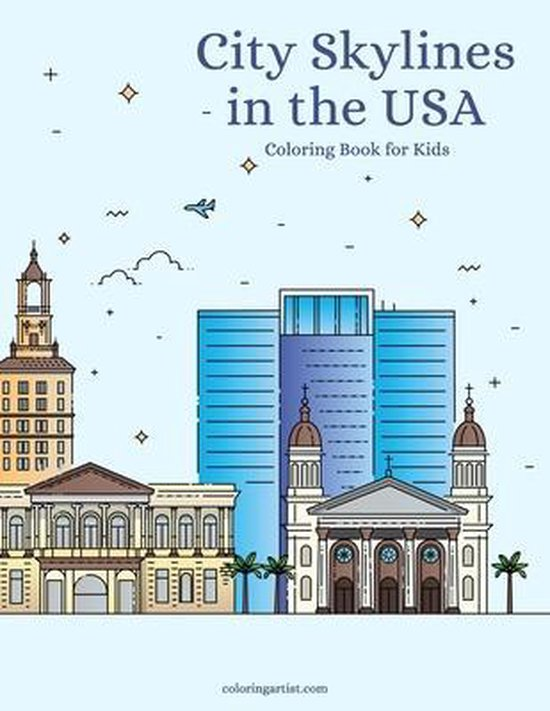 City Skylines in the USA Coloring Book for Kids