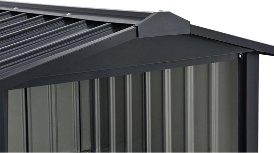 Metalen Maairobotgarage - 86 x 98 x 63cm - Antraciet