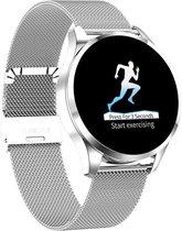 SAMMIT® Dames en Heren Smartwatch Zilver Met Stappenteller- Meldingen- Hartslag- Calorieën Meter- Iphone&Android