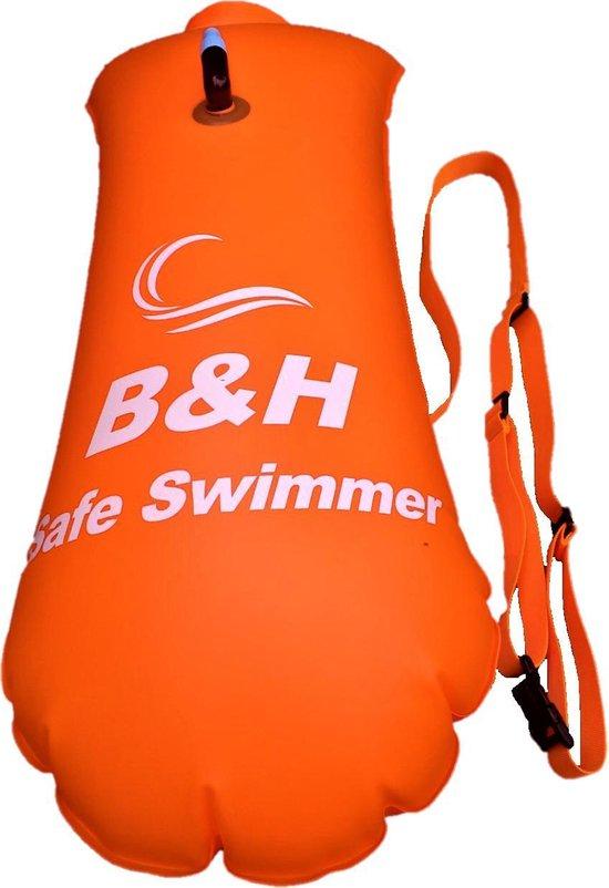 Premium Safe swimmer Zwemboei voor veilig Openwaterzwemmen - Safeswimmer zwem boei inclusief drybag opbergzak | B&H Safe swimmer