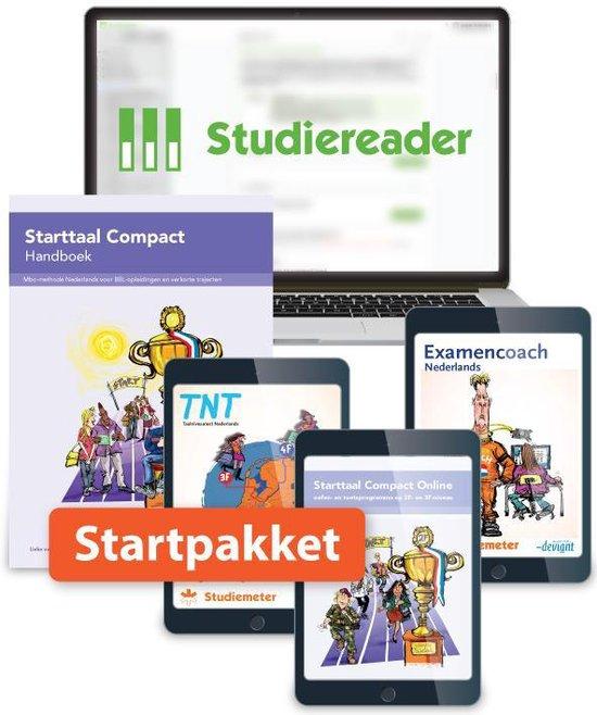 Boek cover Starttaal Compact  -   Studiereader Starttaal Compact 2F/3F 12M Startpakket van Rieke Wynia (Paperback)