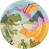 Bordenset Dino Junior ⌀23 Cm Papier 6 Stuks