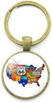 Route 66 sleutelhanger
