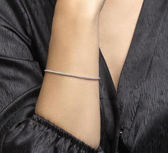 Glams Dames Armband Vossestaart 2,5 mm 19 cm - Zilver