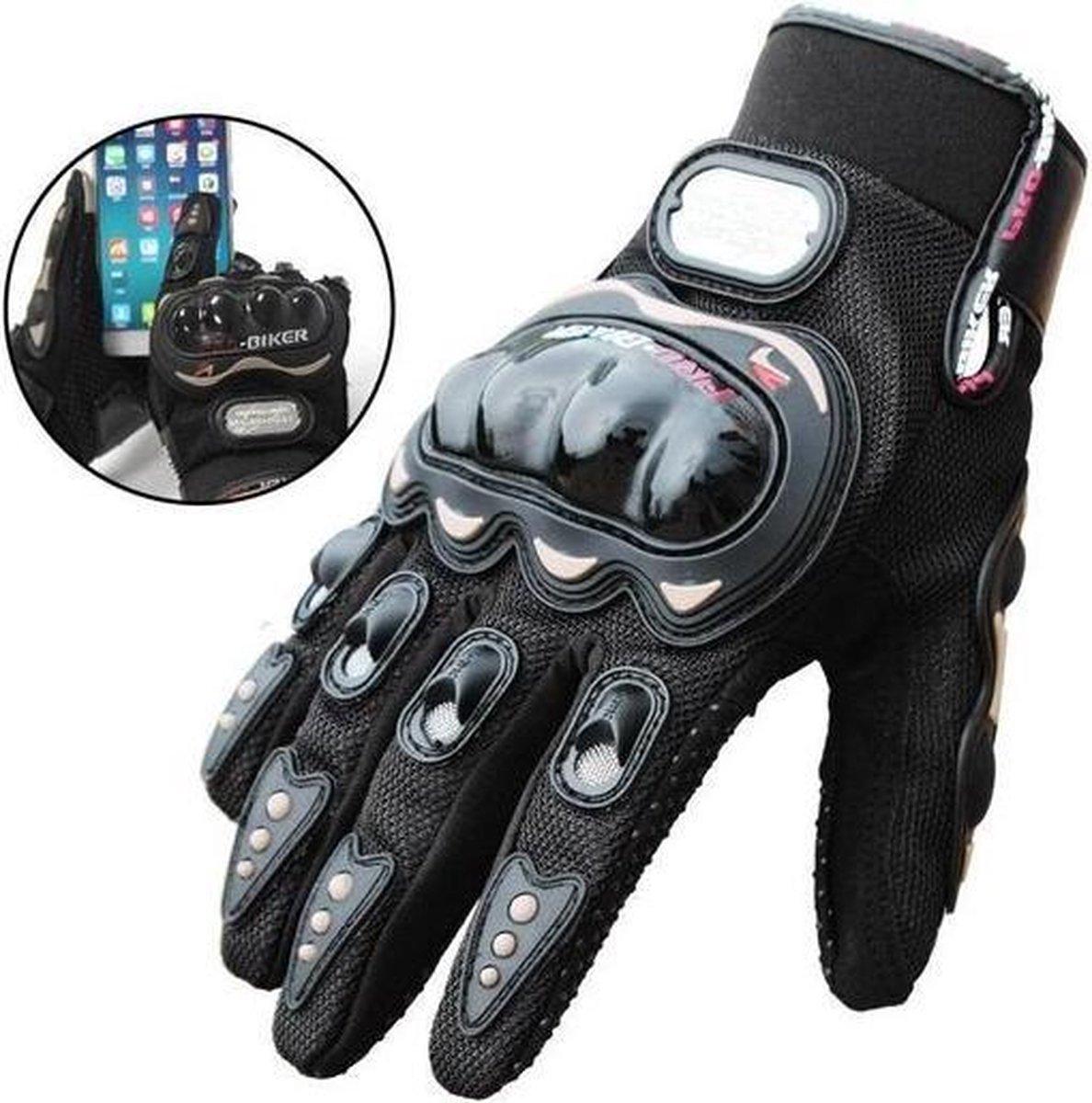 Motorhandschoenen - Zwart - Handschoenen Motor & Scooter - Maat L - Touchscreen - Bescherming